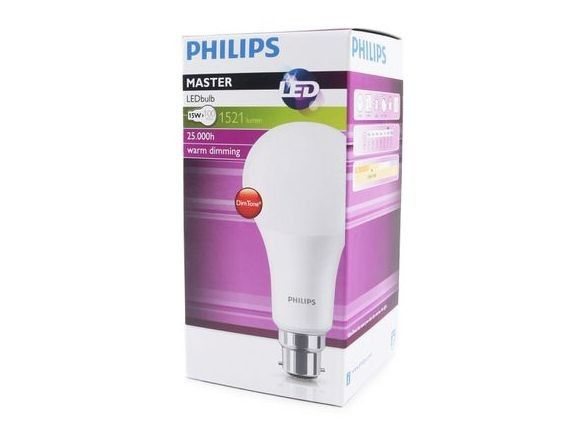 dimmable 100w equivalent led bulb 15w bayonet b22 philips