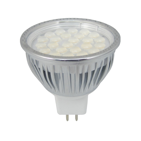 Dimmable Mr16 Led Smd Bulb 50w Halogen Replacement 430 Lumens 24 X 5050 Smd Chips