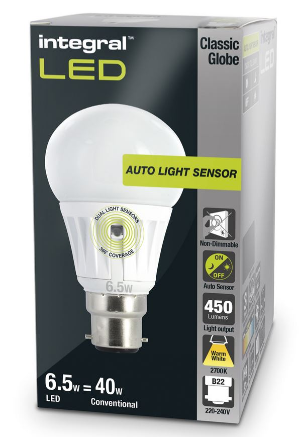 dusk to dawn light bulbs sensor lamp led 40 60w equivalent integral led
